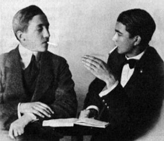 Jørgen-Frantz Jacobsen - Faroe Islands writers William Heinesen and Jørgen-Frantz Jacobsen, 1918 (both at the age of 18)