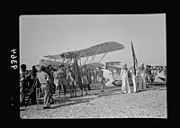 Wings over Palestine-Certificates of Flying School, April 21, 1939. Jewish scouts and marine cadets taking part in celebration (Lydda Air Port) LOC matpc.18308.jpg
