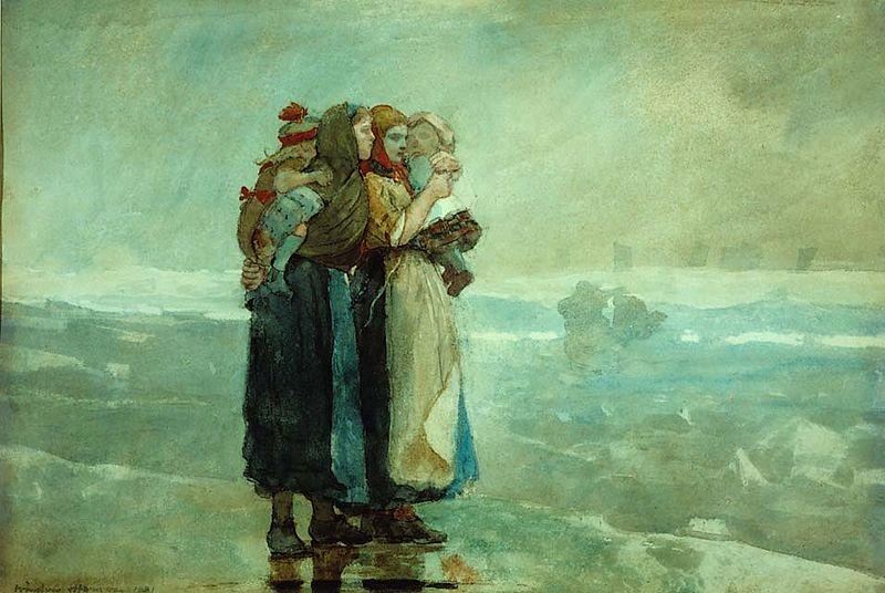 File:Winslow Homer - Forebodings, 1881, watercolor on wove paper.jpg