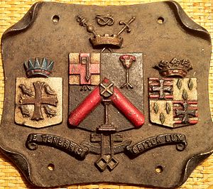 Wolverhampton City Council - Commemorative plaque showing the coat of arms of Wolverhampton Council pre 1898