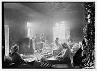 Women washing laundry, possibly at hospital wash house, Scots Mission Hospital, Tiberias LOC matpc.06103.jpg
