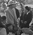 Woodland, California. Families of Japanese ancestry with their baggage at railroad station awaiting . . . - NARA - 537803 (cropped).jpg