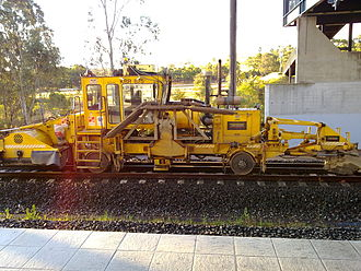 Work train - A work train at the construction of a freight line in Sydney, Australia