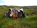 Wrecked car at end of the peat road - geograph.org.uk - 493248.jpg