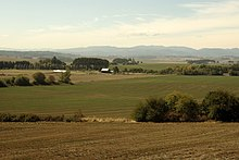 Prairie land in the Willamette Valley, now plowed over for agricultural use