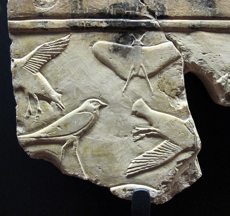 Xxvi dinastia, frammento di rilievo parietale, tebe, 664-525 ac ca. 04