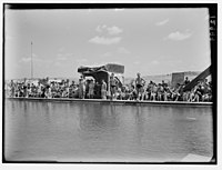 Y.M.C.A. celebration at Beit Nabala on May 21, '44. Military swimming pool opened by Brig. Gen. Allan LOC matpc.00490.jpg
