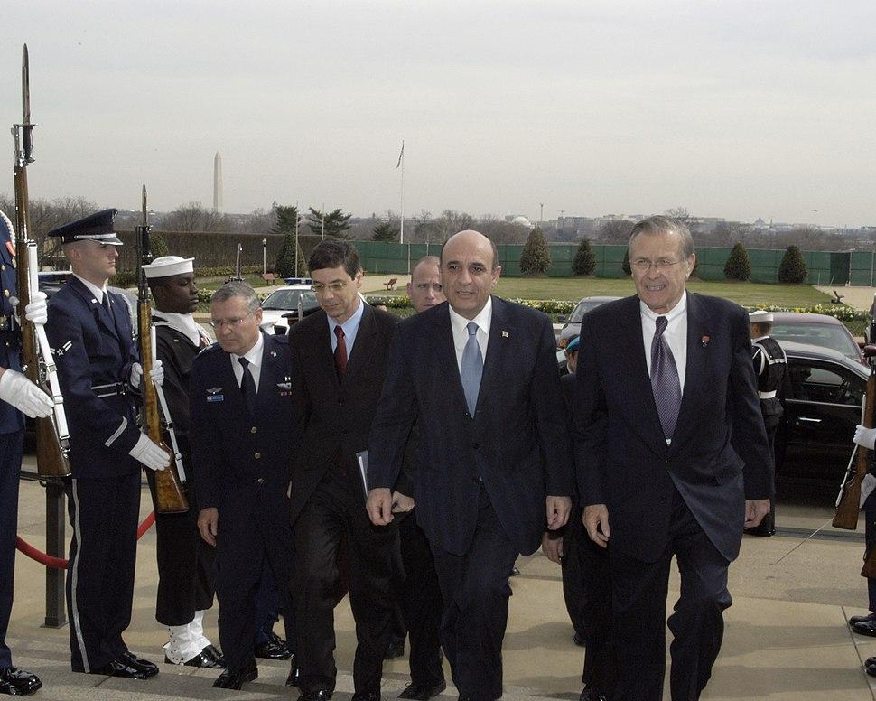 Yadlin Ayalon Mofaz Rumsfeld