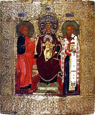 Chet (murza) - A vision of Virgin Mary to Zachary Chet (16th century icon)
