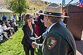 Yellowstone Deputy Superintendent Steve Iobst congratulates a new citizen. (21301740035).jpg