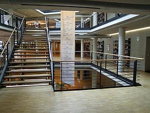 German National Library of Economics - ZBW building interior, Kiel