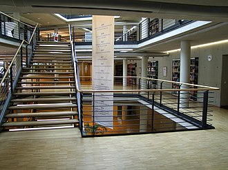 German National Library of Economics - ZBW building interior, Kiel