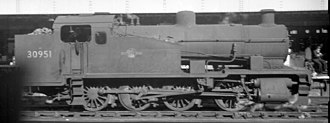 SR Z class - BR Z class 30951 at Exeter Central, 1960