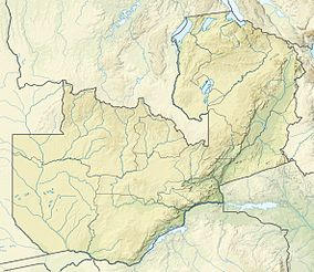 Map showing the location of South Luangwa National Park