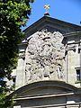 Zell a.H., Wallfahrtskirche Maria zu den Ketten, Westfassade, Flachrelief.jpg