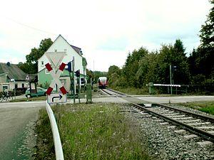 Matzenbach - A train stopping at Matzenbach