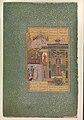 """Shaikh San'an beneath the Window of the Christian Maiden"", Folio18r from a Mantiq al-tair (Language of the Birds) MET DP247743.jpg"