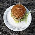 'Gourmet cheeseburger' - Bradleys Original Tea Hut at High Beach, Essex, England 2.jpg