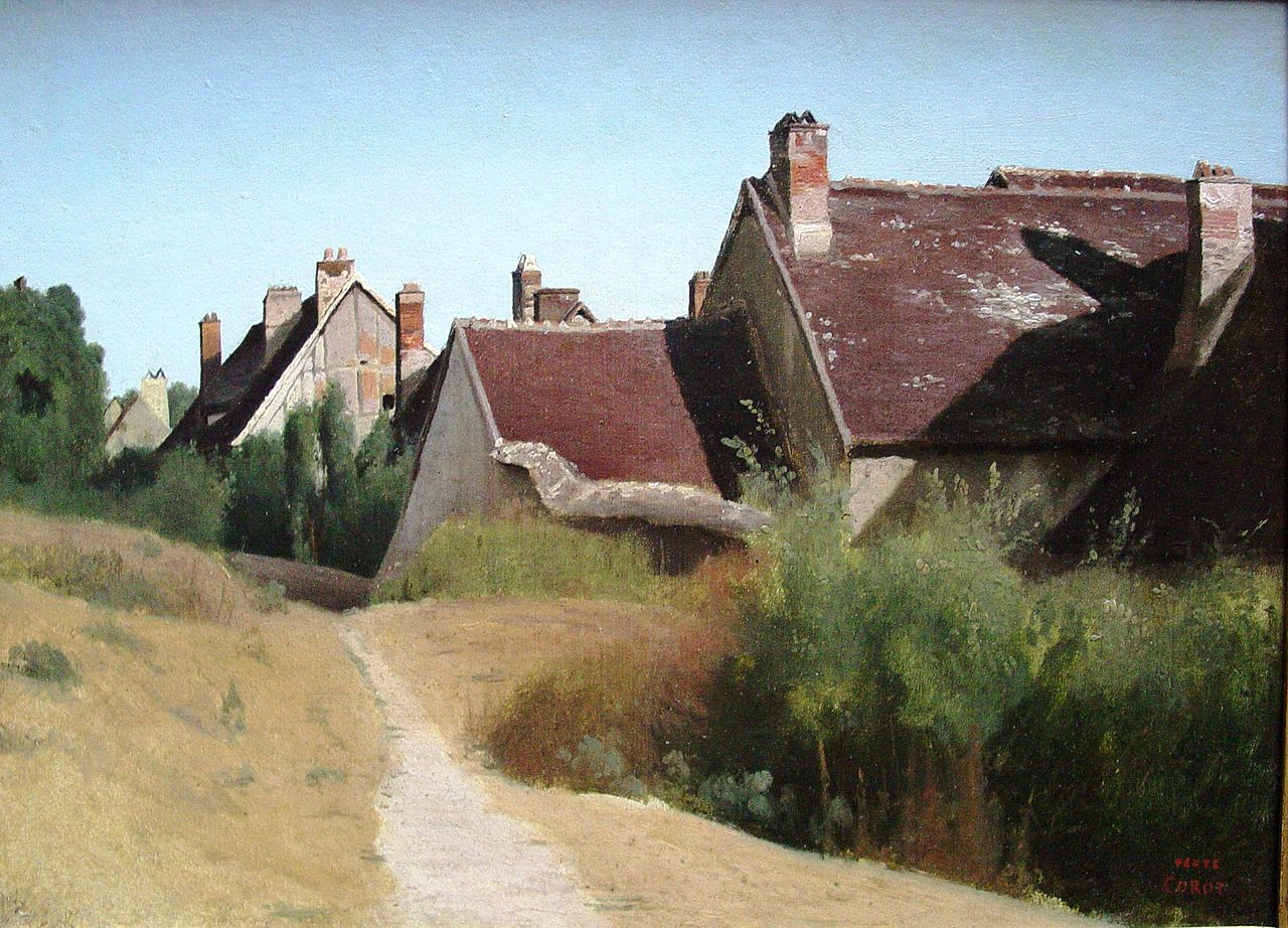 File 39 houses near orleans 39 oil painting by jean baptiste for Camille corot