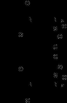Struktur von Chlortalidon-Enantiomere