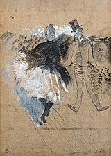 (Albi) Moulin-rouge. La Goulue et Valentin le desossé - Toulouse-Lautrec 1891 - Inv.138.jpg