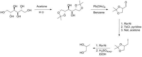 (s)-Propanediol from D-Mannitol.png