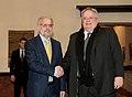 Επίσκεψη, Υπουργού Εξωτερικών, Ν. Κοτζιά στην πΓΔΜ – Συνάντηση ΥΠΕΞ, Ν. Κοτζιά, με Πρόεδρο Βουλής της πΓΔΜ, T. Xhaferi (23.03.2018) (40262395474).jpg