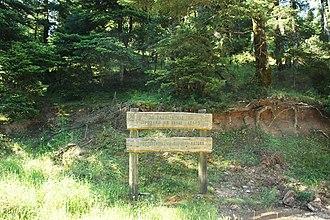 Mount Erymanthos - Natura 2000 sign in Erymanthos.