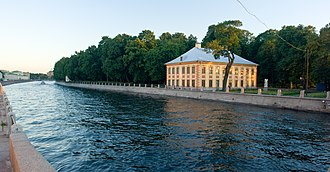 Summer Palace of Peter the Great - The palace as seen from across the Fontanka River