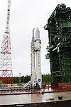 Вывоз и установка ракеты космического назначения «Ангара-1.2ПП» на стартовом комплексе космодрома Плесецк 14.jpg