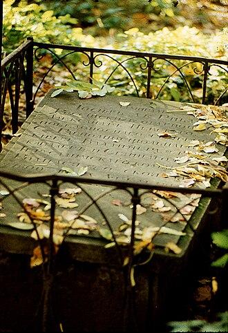Smolensky Lutheran Cemetery - Image: Могила Де Рибаса И.М
