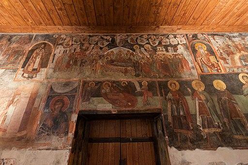 Несебыр Интерьер церкви Си Стефана Западная стена