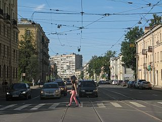 District in federal city of St. Petersburg, Russia