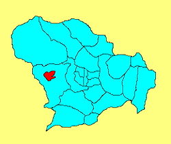 Location of the district
