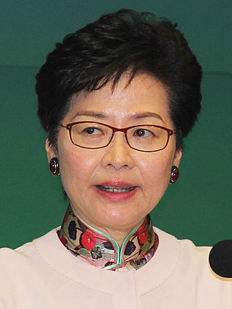 Chief Executive of Hong Kong - Image: 香港特首籲港民尊國歌 勿以身試法 (cropped)
