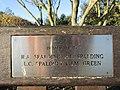 -2018-12-17 Spalding and Green dedicated bench, North Lodge Park, Cromer.JPG