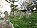 -2019-11-13 Gravestones, Saint John the Baptist parish church, Trimingham.JPG