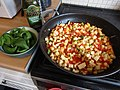 -2020-08-06 Making Courgette, Tomato, Onion, Garlic, and Mascarpone sauce, Trimingham, Norfolk.JPG