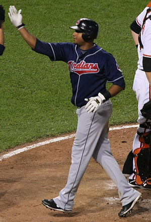 Andy Marte - Marte with the Cleveland Indians