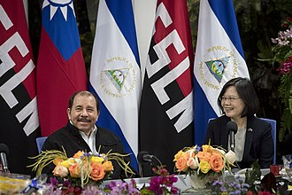Foreign relations of Taiwan - The ROC's president Tsai Ing-wen with Nicaraguan President Daniel Ortega, January 10, 2017