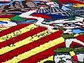 060 Fabra i Coats (Barcelona), mostra Som Cultura Popular, catifa de flors a l'esplanada.jpg