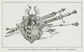 061 Das Landeswappen, das Schwert des Großmeisters Johann Siebenhirter in Millstatt (1499) und Richterstäbe.png