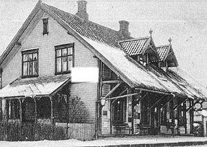 Ås Station - The station building in 1905