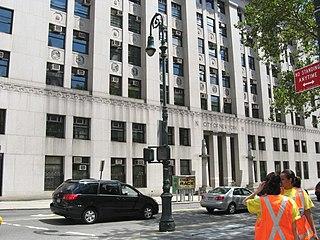 Worth Street Street in Manhattan, New York