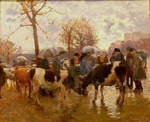 Joseph-Félix Bouchor - Image: 126 Joseph Félix Bouchor Marché aux bestiaux Quimper