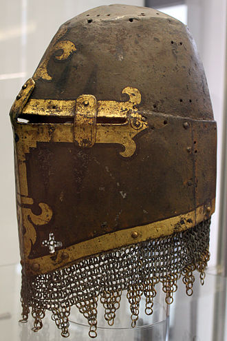 Post-classical history - The Great helm of Hans Rieter from 1350, displayed in the Germanic National Museum in Nuremberg.