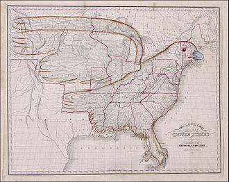United States territorial acquisitions - 1833 Eagle Map of the U.S.