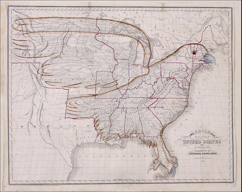 1833 Eagle Map of the U.S.