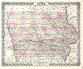 1855 Colton Map of Iowa - Geographicus - Iowa-colton-1855.jpg
