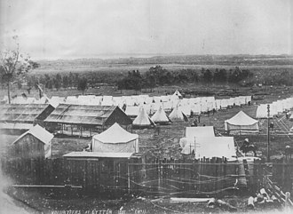Fort Lytton - Image: 1881 Fort Lytton Encampment 2000x 1459